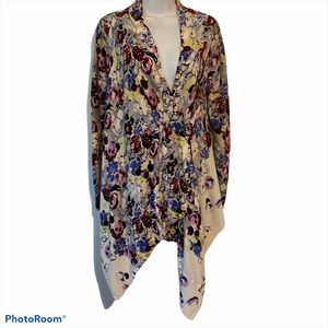 Anthropologie Guinevere S bramble wave wrap floral